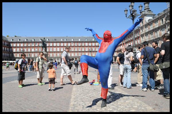 Spiderman en la Plaza Mayor - Madrid
